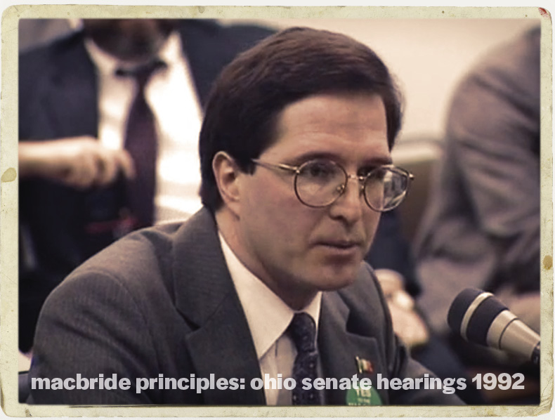 MacBride Principles: Ohio Senate Hearings 1992